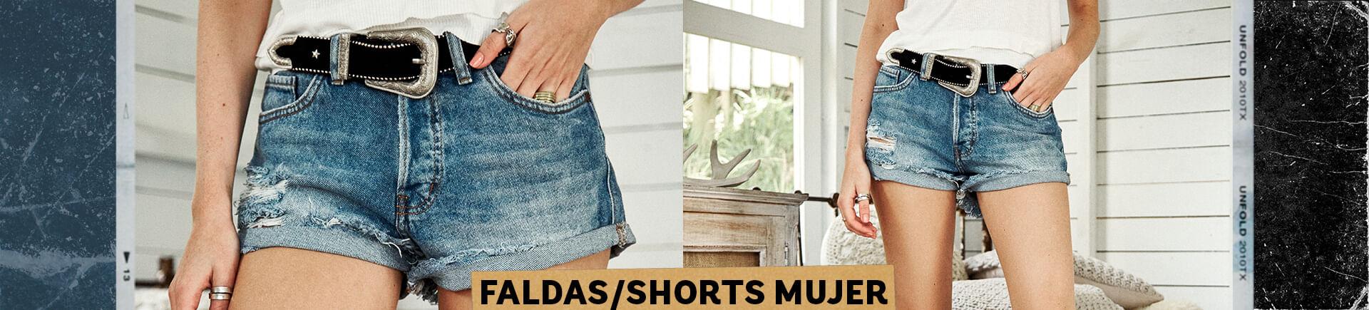 Faldas y Shorts Mujer Color Blue