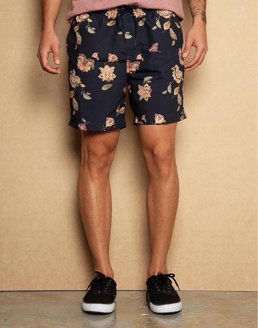 8f20d635cb791 Pantaloneta De Baño Flores Azul XL Compra en tienda COLOR BLUE ...