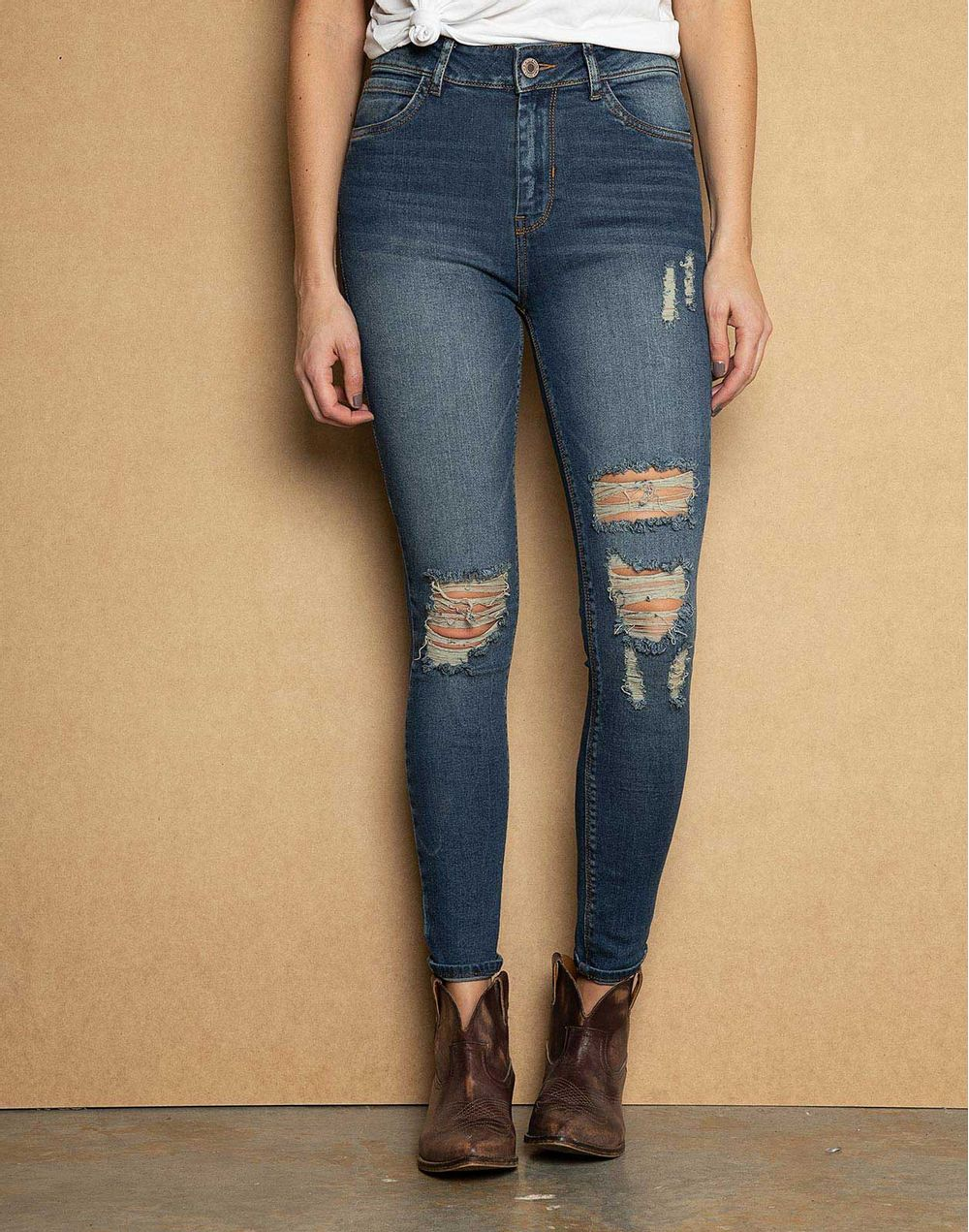 disfruta del precio inferior oficial mejor calificado reloj High Waist Skinny Jeans + Rotos