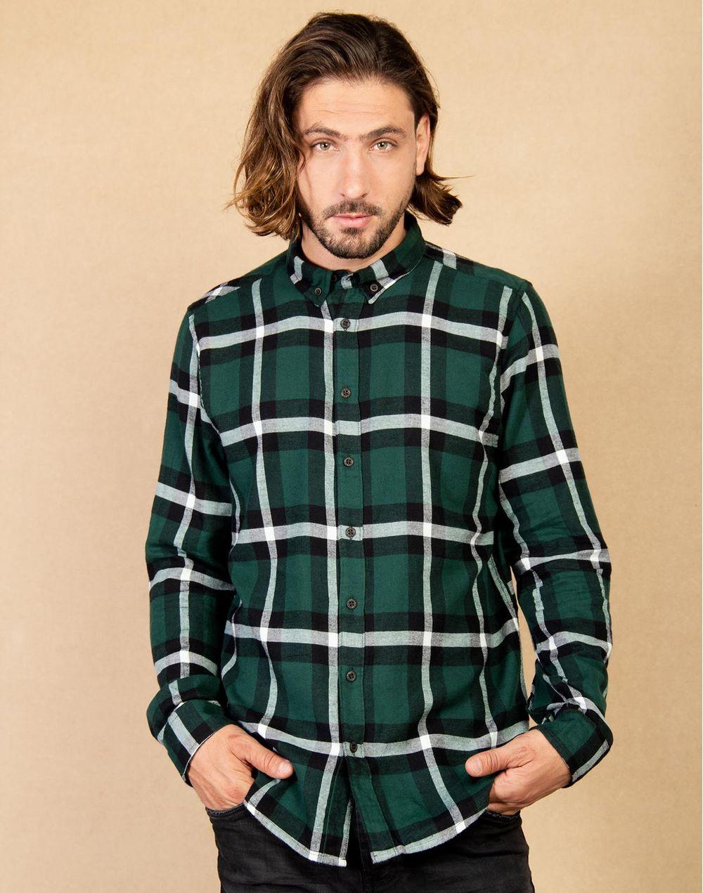 6cdd509d0899c Camisa Leñadora Regular Fit Verde XL Compra en tienda COLOR BLUE ...