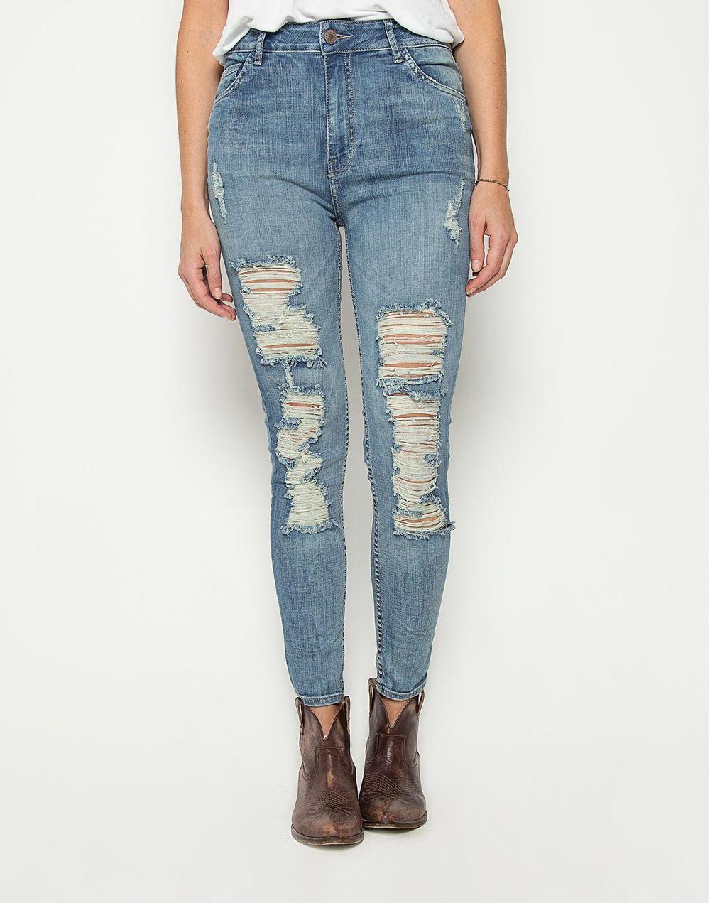 baratas para descuento 23c1a ba227 High Waist Skinny Jeans + Rotos